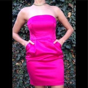 Express fuchsia mini dress